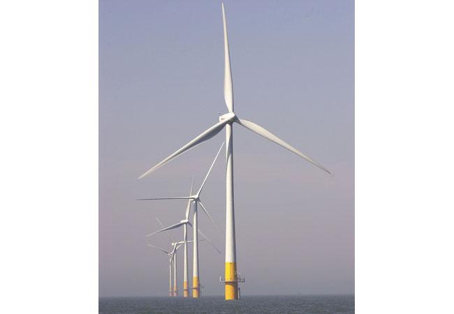 Offshore-Windparks Kentish Flats / Pressebild: Vattenfall