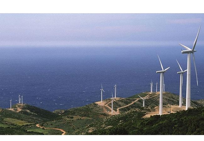Parque eólico de Iberdrola El Segredal, en Asturias