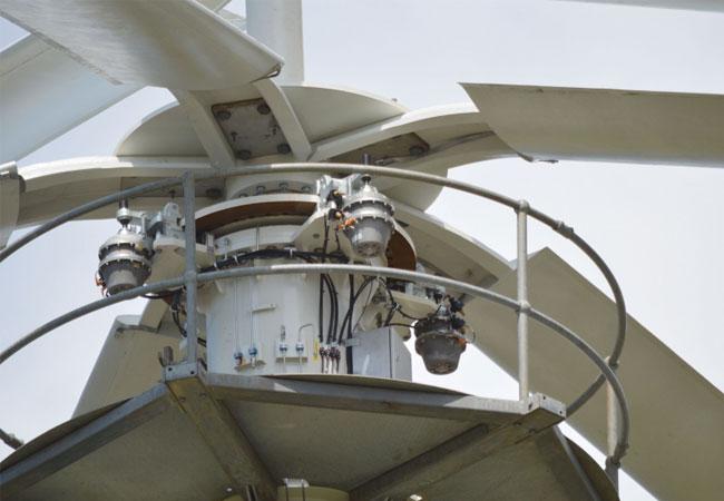 """In das neuartigen Anlagenkonzept einer Vertikalachsen-Windkraftanlage """"4 Navitas 4N-55 55KW"""" fügt sich die Bremse DU 060 FPM perfekt ein. (Bild: 4Navitas) / Pressebild"""