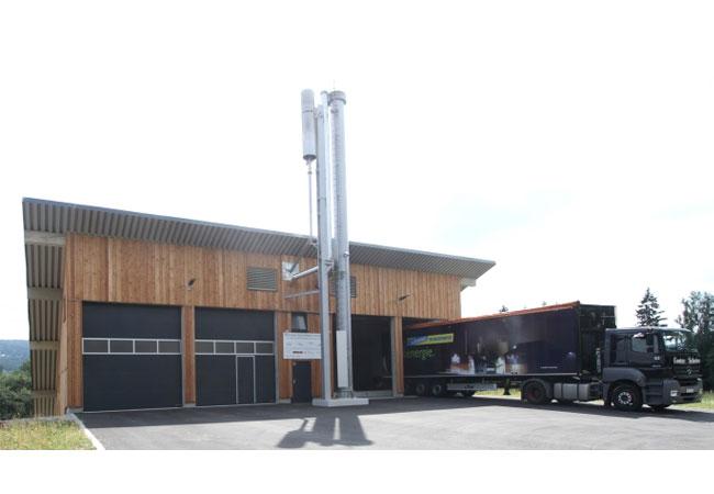 Satelitenheizkraftwerk auf Basis von Biomasse im Ortsteil Schönbrunn im oberfränkischen Wunsiedel / Bildquelle: SWW Wunsiedel GmbH