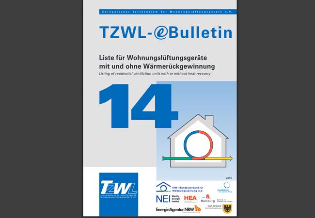 TZWL veröffentlicht die Label bei vielen Geräten im Infoportal Wohnungslüftung auf seiner Website und hat die Labelklassen in das eBulletin Nr. 14 integriert.
