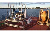 Erster Test des Zooplankton-Observatoriums an der Warnow (© Thünen-Institut)
