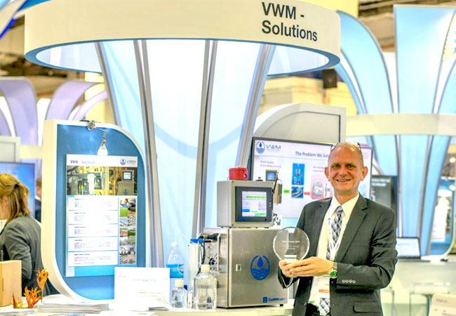 Wolfgang Vogl at VWM Booth at the Innovation Pavilion © VWM GmbH