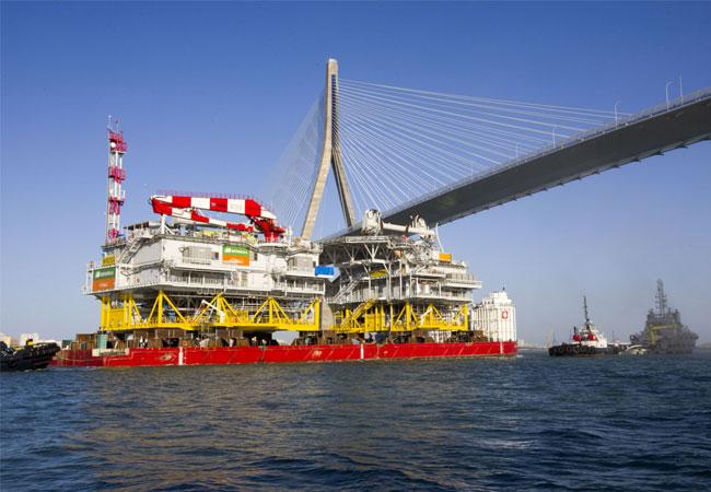 Pressebild: Iberdola: Verschiffung der Umspannplattform