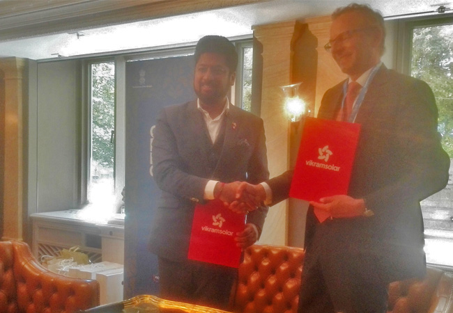 India's only tier 1 module manufacturer plans investments of over INR 400 crore. / Pressebild: Vikram Solar