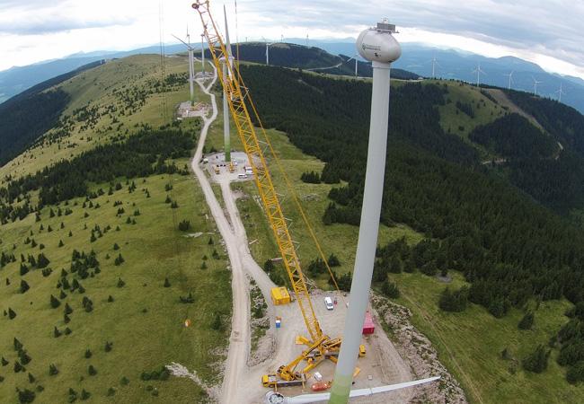 Windpark Pretul - Blick vom Grazer Stuhleck Richtung Amundsenhöhe Foto: Grant Thomson