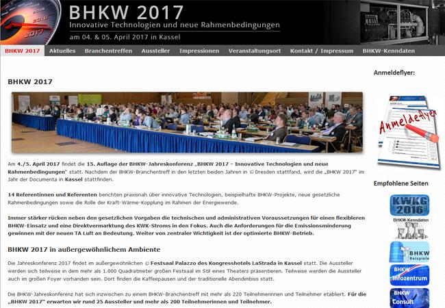 """Für die """"BHKW 2017"""" werden rund 25 Aussteller und mehr als 200 Teilnehmerinnen und Teilnehmer erwartet."""