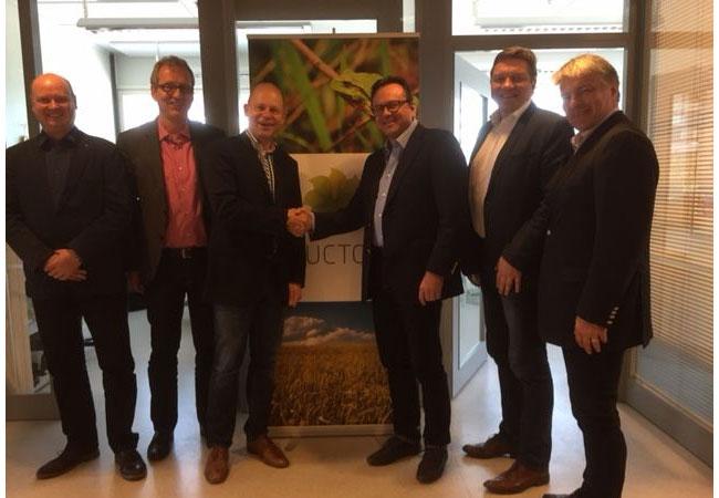 Von links: O. Seehafer (Rücken & Partner Ingenieurgesellschaften), G. Cordes (R & W System GmbH), M. Rücken (Rücken & Partner Gruppe), A. Ketola (Ductor), A. Viiala (Ductor), I. Virkajärvi (Ductor)