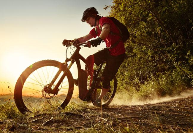 eBike mit Bosch-Antrieb im sportiven Einsatz: