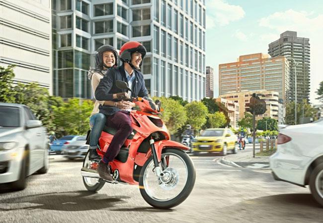 Die Zukunft des Motorrads ist nicht nur sicherer, sondern auch vernetzt / Pressebild