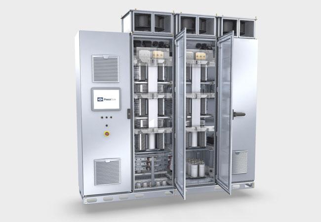 Umrichter von Knorr-Bremse PowerTech: Der zuverlässige und effiziente Betrieb von Energiegewinnungssystemen wie einer Windkraftanlage oder in industriellen Speichersystemen ist gesichert