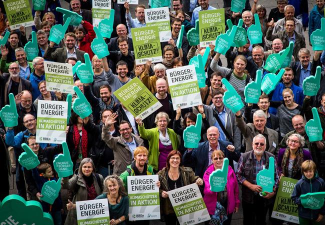 Bürgerenergie: Klimaschützer in Aktion. Quelle: Bündnis Bürgerenergie e.V., Jörg Farys