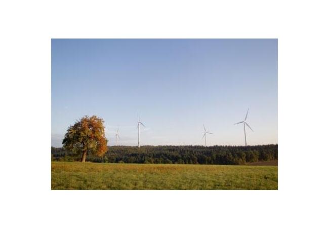 Der Windpark Ravenstein ist Teil des Kraftwerksparks II von Green City Energy