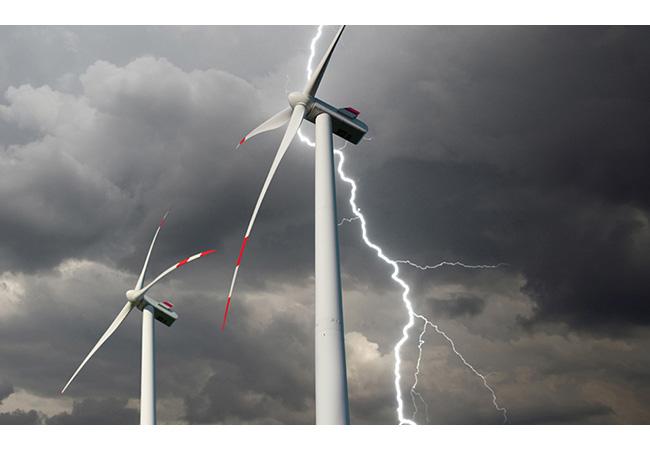 Pressebild: DEHN schützt Windenergieanlagen