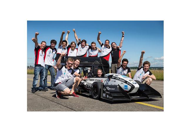 Dem Formula Student Team des Akademischen Motorsportvereins Zürich (AMZ) ist heute ein Weltrekord geglückt. (Bild: ETH Zürich / Alessandro Della Bella)