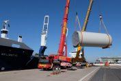 DSV Air & Sea Projects wickelt Transporte für Adwen über Bremerhaven ab / Pressebild