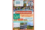 """Flyer zur """"Energiewende retten!""""-Demo am 2.6."""