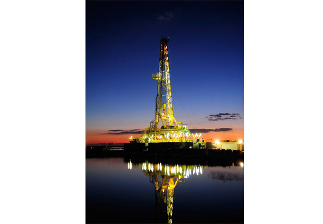 Frackinganlage: Pressebild: Quellenangabe (Wirtschaftsverband Erdöl- und Erdgasgewinnung e.V.)