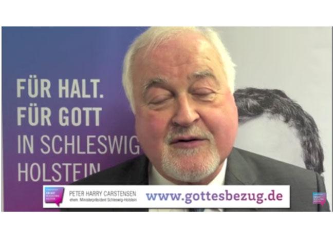 Statement zum Gottesbezug - Peter Harry Carstensen (ehem. Ministerpräsident Schleswig-Holstein)