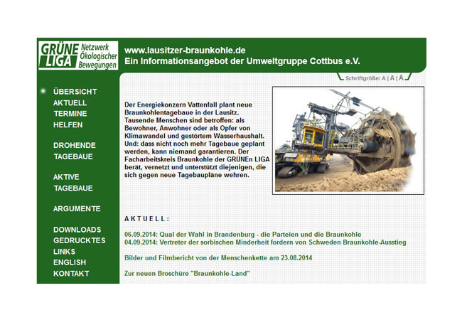 Internetseite: http://www.grueneliga.de/