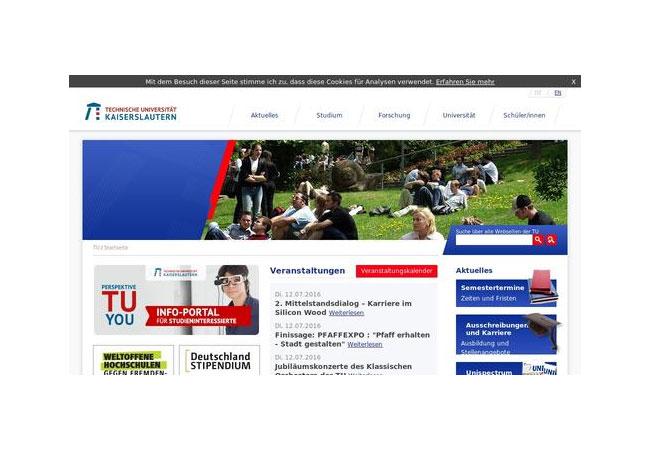 Internetseite: Kaiserslautern