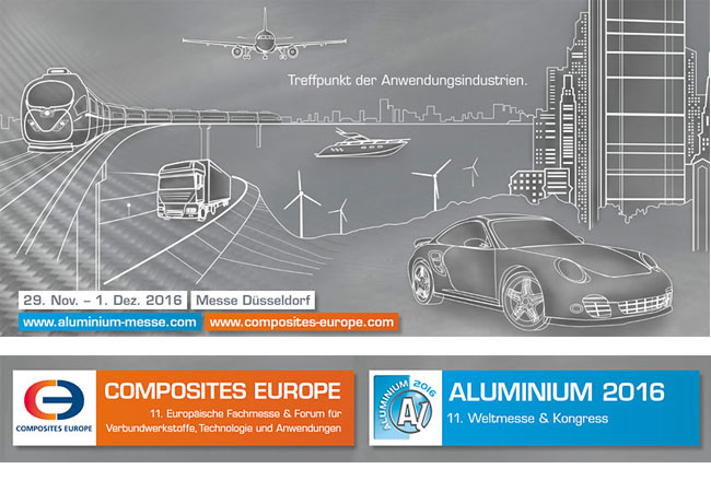 Erstes Lightweight Technologies Forum in Düsseldorf im Rahmen der ALUMINIUM und COMPOSITES EUROPE 2016