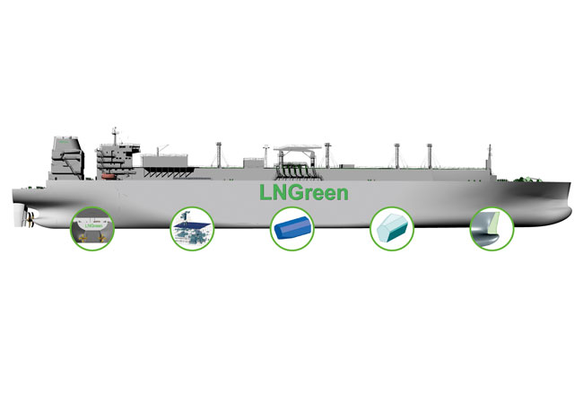Pressebild: DNV GL has initiated a follow-up of the successful LNGreen project, which brought together GTT, GasLog, Hyundai Heavy Industries (HHI) and DNV GL to develop tomorrow's LNG carrier