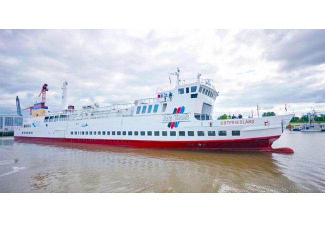 Die MS Ostfriesland verbindet seit rund 30 Jahren Emden mit Borkum / Pressebild: Rittal