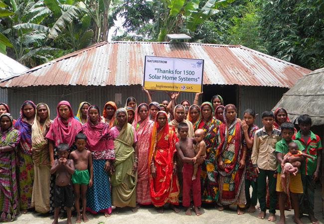 Solarstrom für 3.000 Familien in Bangladesch