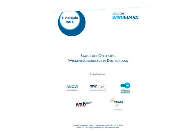 Factsheet: Status des Offshore-Windenergieausbaus in Deutschland, 1. Halbjahr 2016
