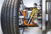 Radnabenantriebe auf der Automotive Testing Expo - Demonstrator eines adaptiven Dämpfers auf der Automotive Testing Expo in Stuttgart. - Foto: Fraunhofer LBF, Ursula Raapke