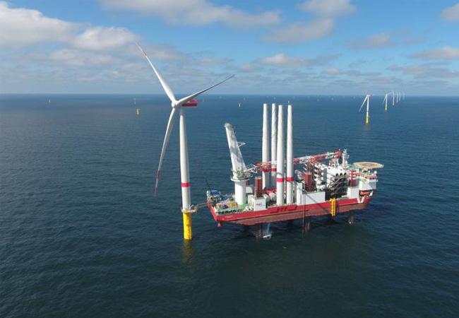 Offshore-Windpark Sandbank speist ersten Strom ein / Pressebild