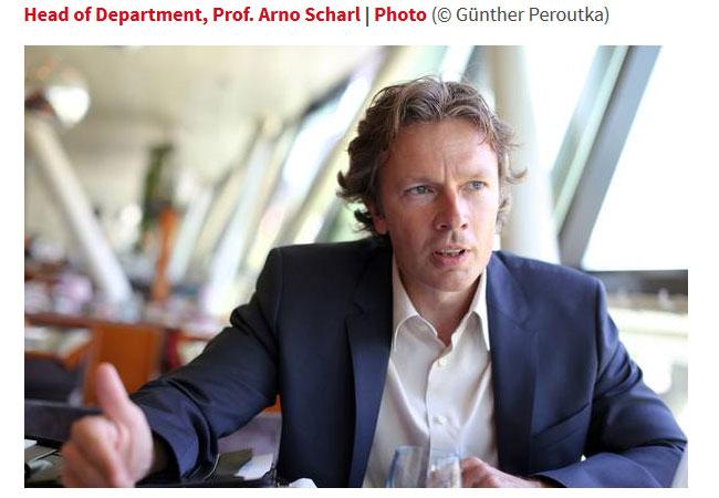 Univ.-Prof. DDr. Arno Scharl MODUL University Vienna Institut für Neue Medientechnologie / Pressebild: Photo (© Günther Peroutka)