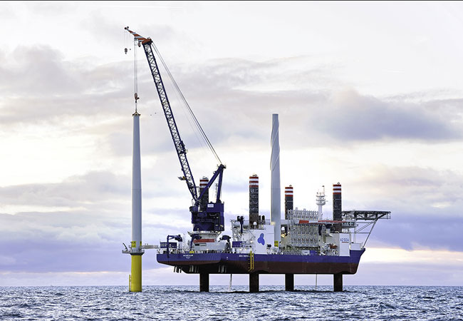From summer 2018, A2SEA will play a key role in building Horns Reef 3 off the west coast of Denmark for Vattenfall. SEA INSTALLER from turbine installation on Borkum Riffgrund in 2015
