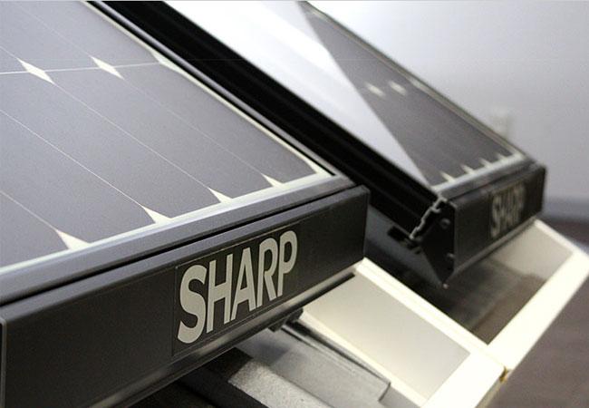 Sharp präsentiert das effizienteste 48-zellige PV-Modul der Branche / Pressebild