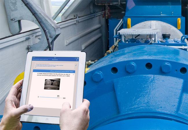 """Zur Lagerüberwachung in Windenergieanlagen ermöglicht SKF Enlight eine mobile, cloudbasierte Datenerfassung und erleichtert auf Basis frei konfigurierbarer """"Checklisten"""" die Inspektionsarbeiten - Tipps zur korrekten Durchführung der Aufgaben inklusive."""