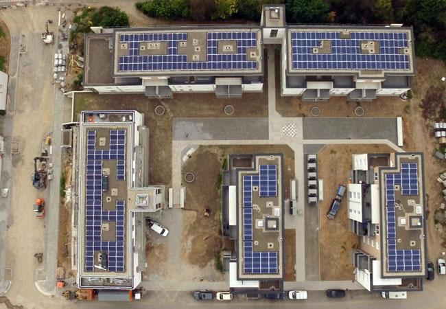 WIRSOL stattet Peter Frank Karree in Bruchsal mit Photovoltaikanlagen aus / Pressebild