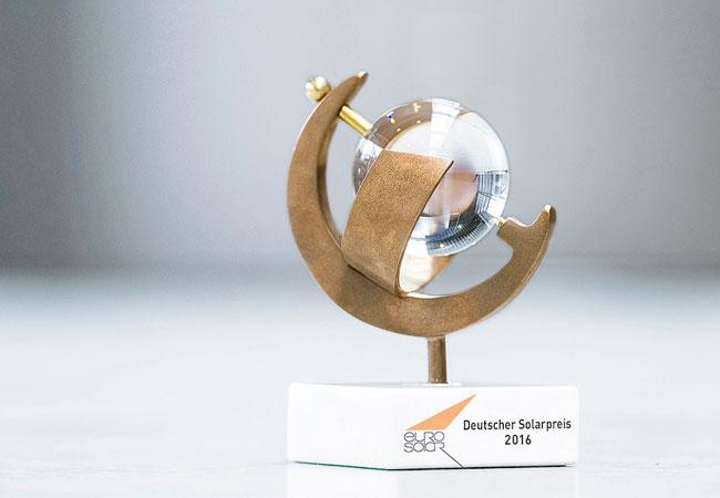 Deutsche Solarpreise / Pressebild: EUROSOLAR e.V. und die EnergieAgentur.NRW