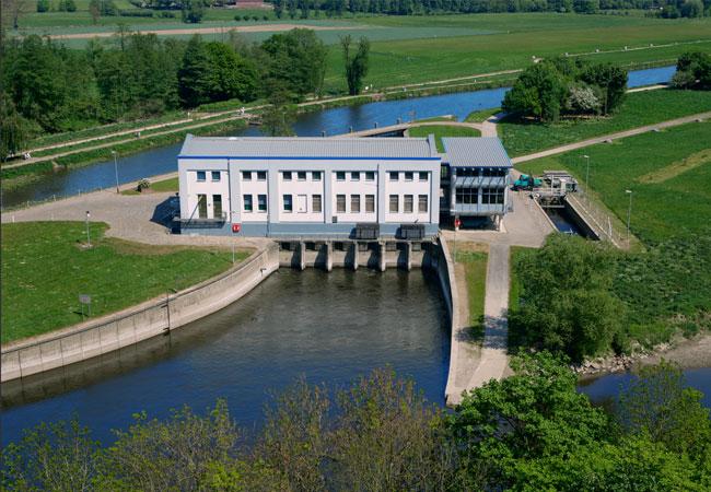 Die Ökostromproduktion im Wasserkraftwerk Stiepel wird weiter ausgebaut. Nach aktuellen Planungen sollten dort pro Jahr 5,4 Mio. Kilowattstunden Strom aus Wasserkraft erzeugt werden. / Pressebild: Stadtwerke Bochum