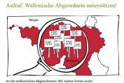 Aufruf: Wallonische Abgeordnete unterstützen!