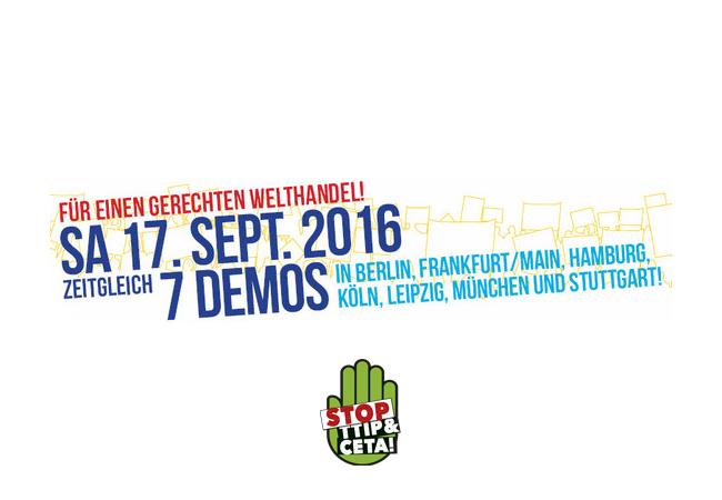 Bundesweite Großdemonstrationen in sieben Städten!