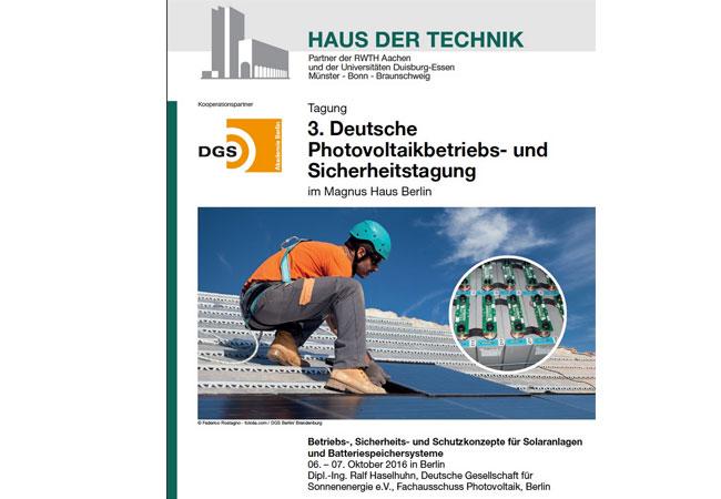 3. Deutsche PV-Betriebs- und Sicherheitstagung in Berlin