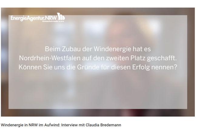 Windenergie in NRW im Aufwind: Interview mit Claudia Bredemann