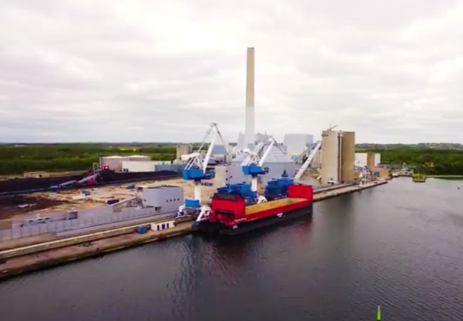 Converting Studstrup Power Station from black to green / Video