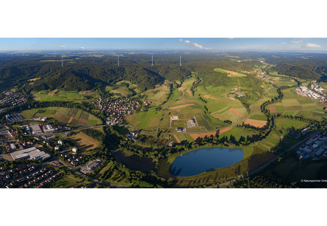 Pressebild: Der erste Naturstromspeicher im Bau befindet sich in Gaildorf im Schwäbisch-Fränkischen Wald.