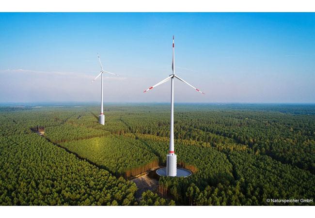 Mit dem Naturstromspeicher entsteht aus einem Windenergiepark ein äußerst vielseitiges Kraftwerk. / Pressebild