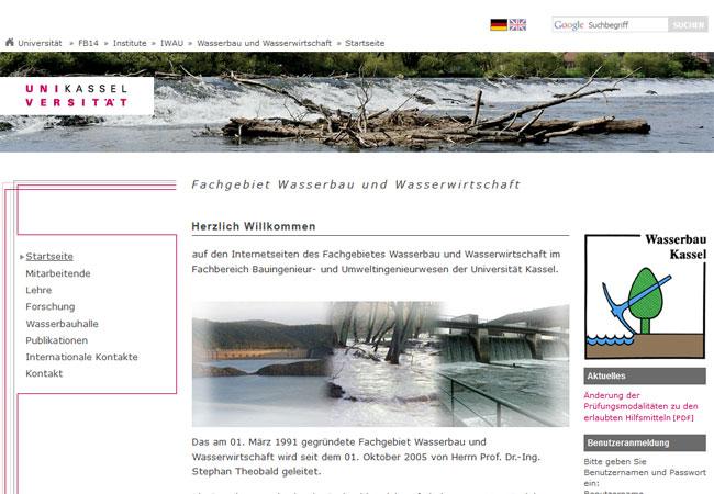 http://www.uni-kassel.de/fb14bau/institute/iwau/wasserbau-und-wasserwirtschaft/startseite.html