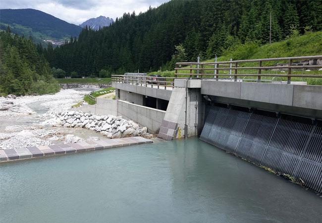 Einlaufbauwerk Wasserkraftwerk / Green City Energy AG / Pressebild
