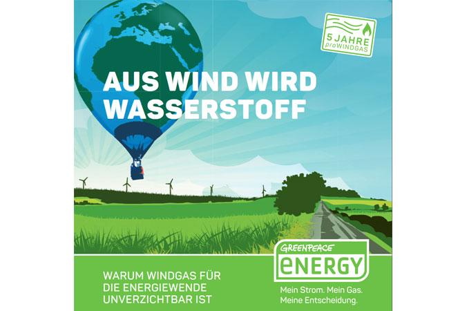 """Broschüre """"Wind wird Wasserstoff - Warum Windgas für die Energiewende unverzichtbar ist"""""""