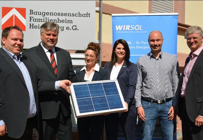 Photovoltaik-Anlagen für 23 Gebäude der Baugenossenschaft Familienheim Heidelberg eG / Pressebild
